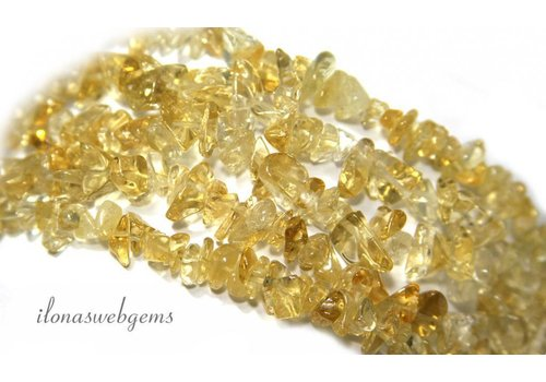 Citrine beads split finely approx. 5mm