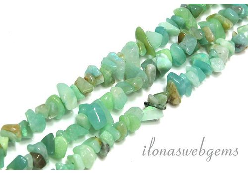 Amazonite beads split approx. 3-5mm