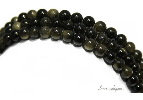 Golden Obsidian beads around 10mm