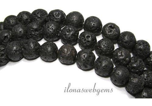 Lavastein Perlen um 10,5 mm
