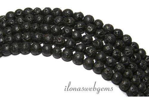 Lavagestein Perlen rund um 6mm