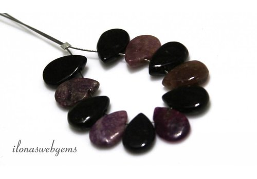 9 pieces mix tourmaline drops
