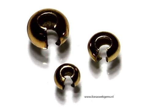 6 pieces Vermeil knijpkraalverberger 5mm