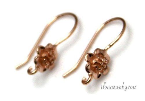 Das erste Paar von Klammern Rose Vermeil Ohrring