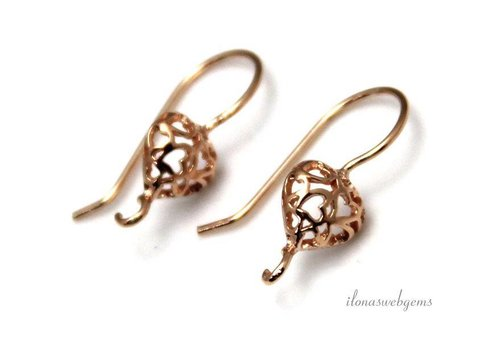 The first pair of brackets Rose vermeil earring