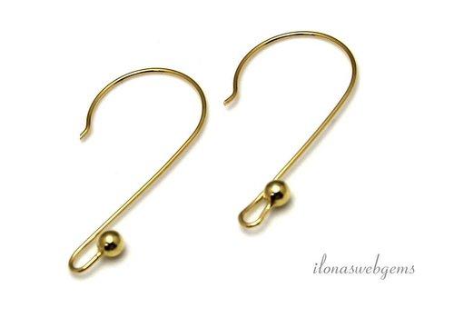 The first pair of brackets Vermeil earring