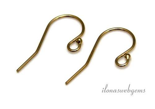 1 paar 14k/20 Gold filled oorbelhaakjes