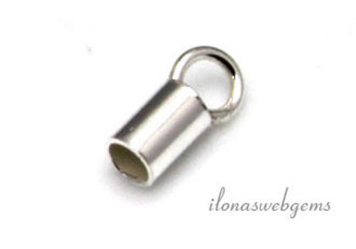 Sterling silver end cap 2mm