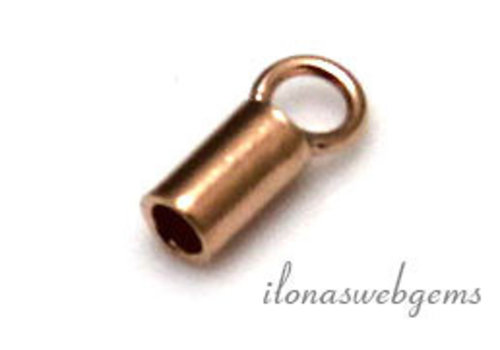 Rosé vermeil end cap 2mm