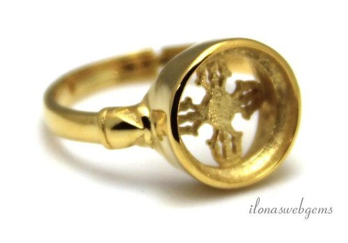 Vermeil ring for cabochon 10mm