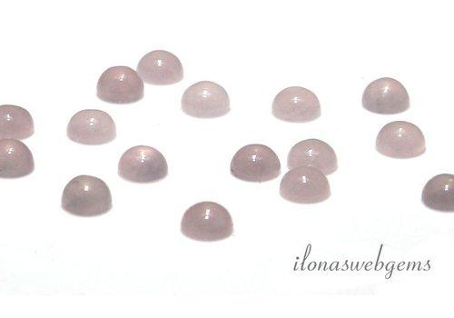 Rose Quartz cabochon 10mm