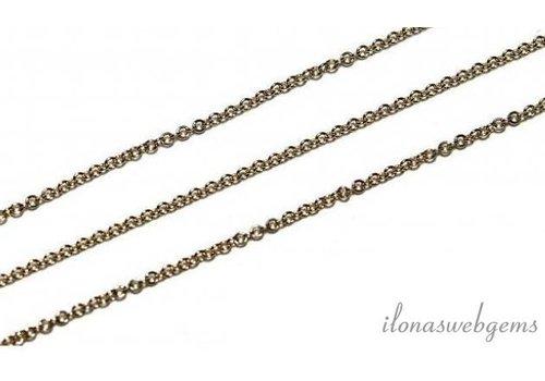 10 cm 14k/20 Gold filled schakels / ketting 1.2mm