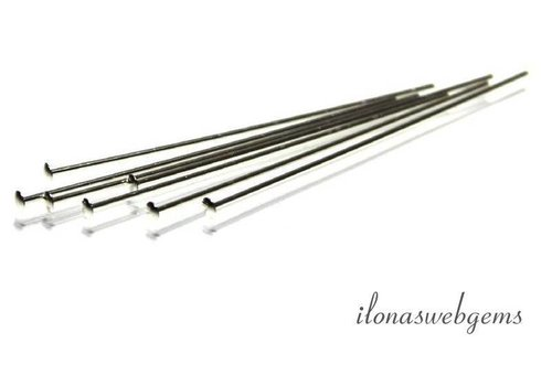 Sterling silver head pin with flat head approx. 38x0.5mm