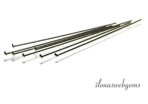 Kopfstift aus Sterlingsilber mit flachem Kopf ca. 50 x 0,5 mm