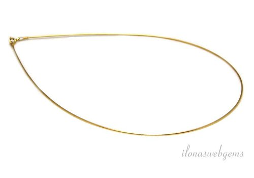 Vermeil Omega Halsband 45cm