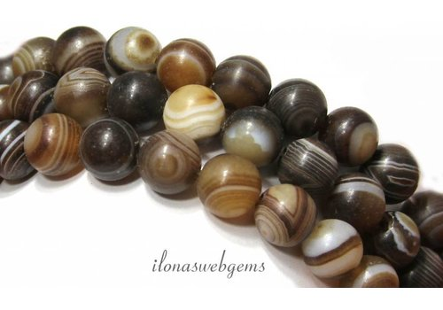 Stripe Agate bead mat around 10mm