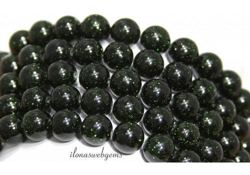 Green Goldstone beads around 8mm