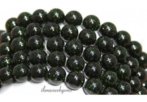 Grüne Goldstone Perlen etwa 8mm