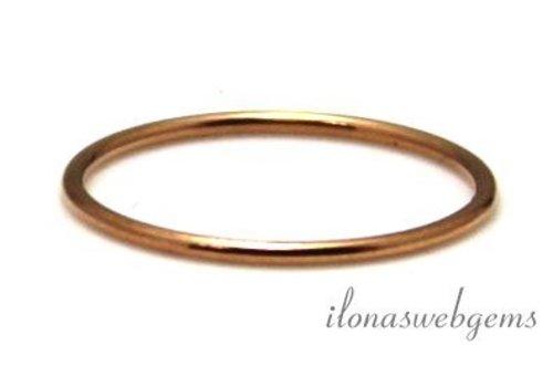 14K/20 Rosé gold filled ring ca. 20mm