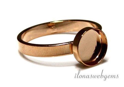 Rosé Vermeil ring voor cabochon 6mm