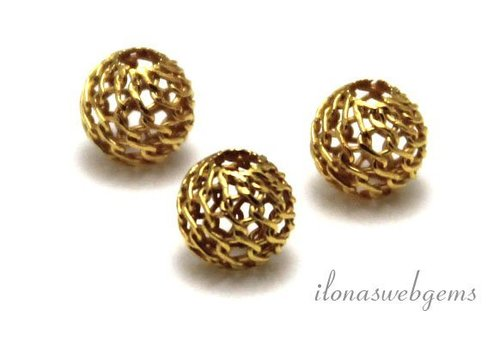 Vermeil Perle etwa 6 mm