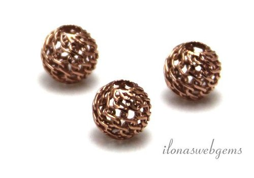 Rosé vermeil bead approx. 7mm