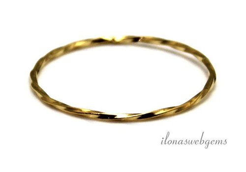 Vermeil closed eye / ring approx. 23x1mm