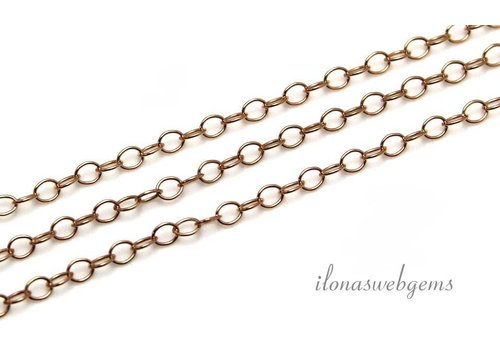 1cm 14k / 20 Rose gold filled links / chain