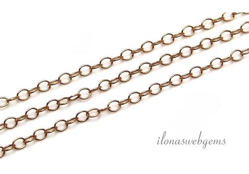 1cm 14k/20 Rosé gold filled schakels / ketting