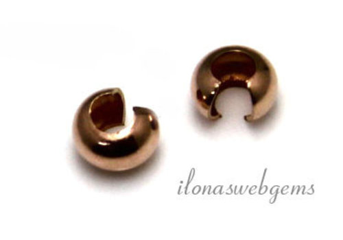 1 piece 14k / 20 Rosé gold-filled squeezers ca 4mm