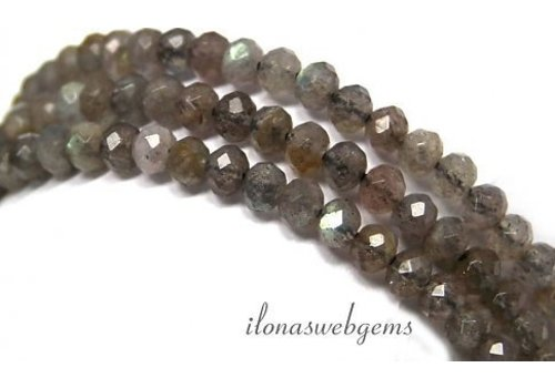 1cm Labradorite beaded facet round about 5x3.5mm AA quality