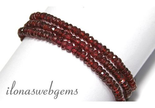 Garnet beads approx 4.3x2mm AA quality