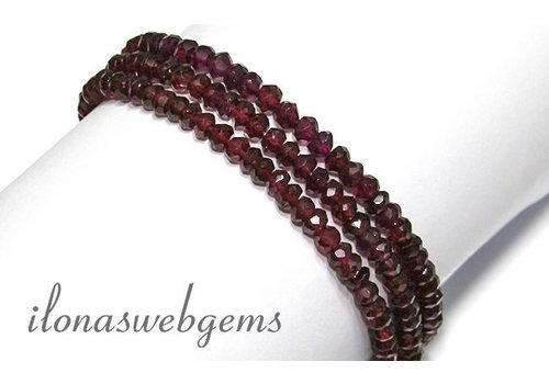 1cm Garnet beads approx 4.7x3mm AA quality