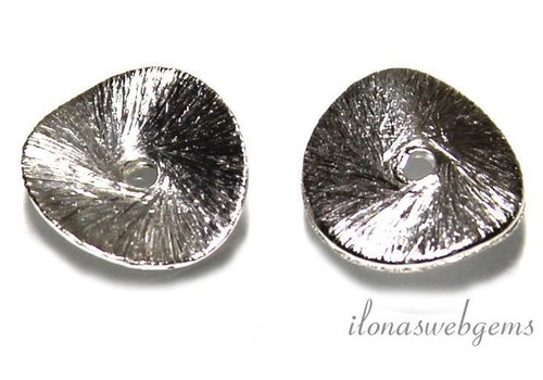 1 piece of silver plated chip 8mm