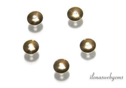1 Stück 14k / 20 Gold gefüllt Perlen Kappe 4mm