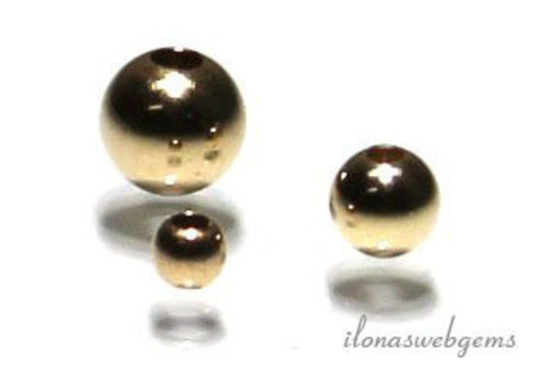 1 piece 14k / 20 Gold filled spacer / bead 2mm