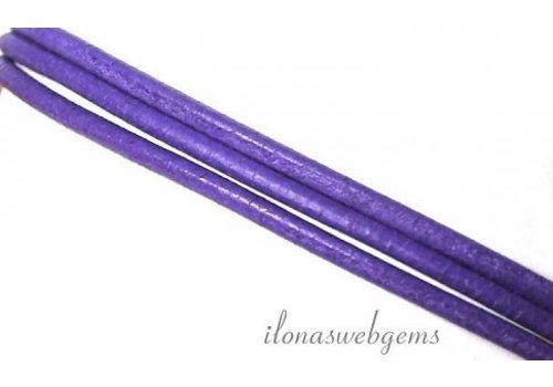Leren koord lilac 1.3mm