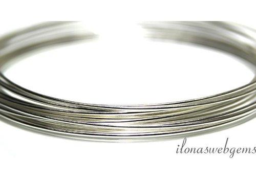 1cm sterling zilverdraad extra stijf ca. 0.3mm / 28GA