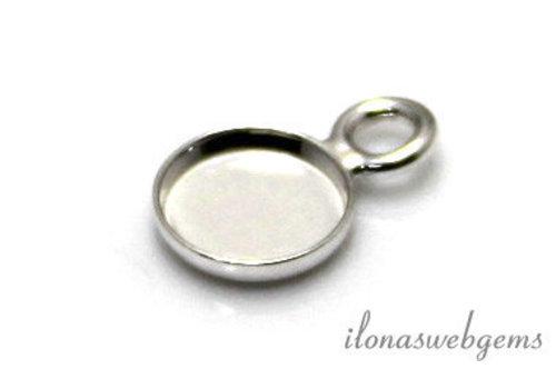 Sterling Silber Anhänger für Cabochon 10mm