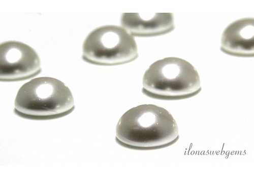 Glass pearl cabochon 14mm