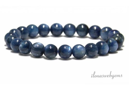 Kyanite beaded bracelet about 7.5mm A quality