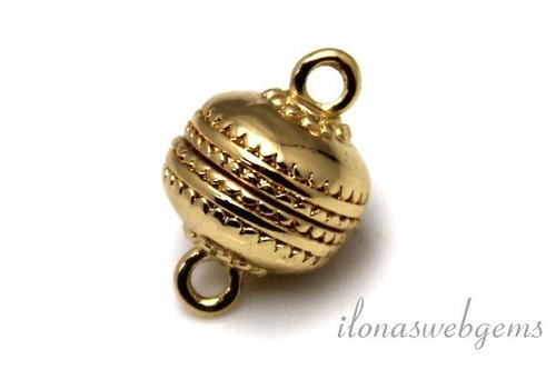Gold plated  magneetslotje ca. 12mm