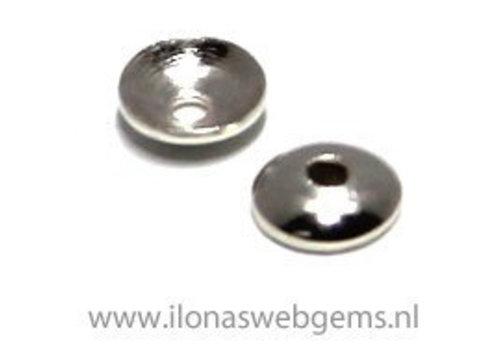 1 stuk sterling zilveren kralenkapje ca. 3mm