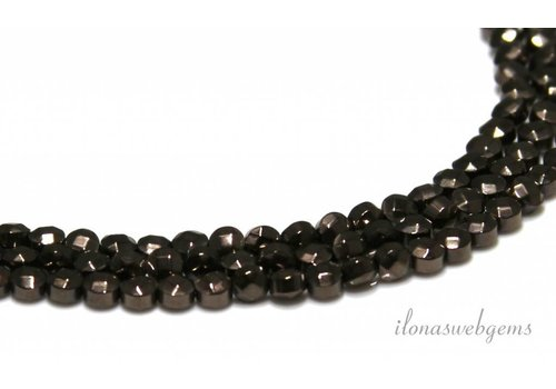 Hematite beads facet about 4x3mm