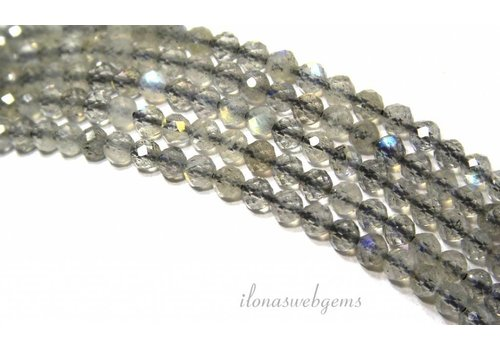Labradorite beads facet around mini approx 3mm AAA + quality