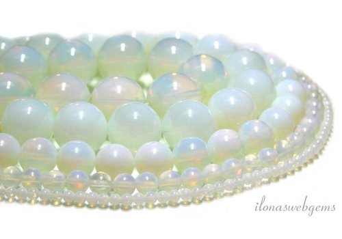 Opalite beads around 12 mm