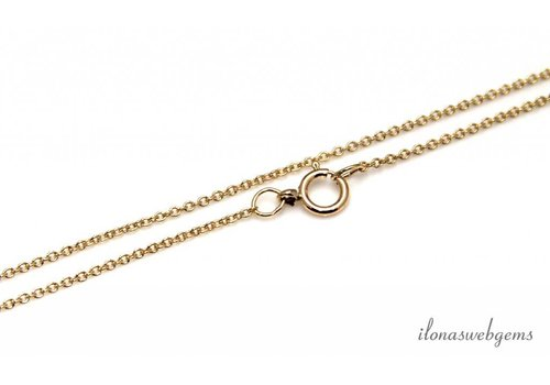 14k / 20 Gold filled chain with lock approx. 1.2mm