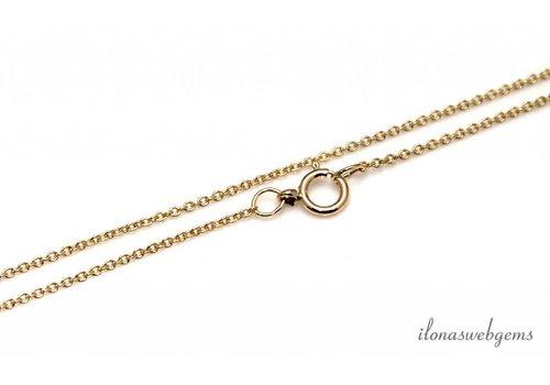 14k / 20 Gold-mit Halskette Verschluss ca. 1,2mm gefüllt