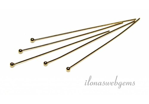 14k/20 Gold filled nietstift ca. 40x0.5mm