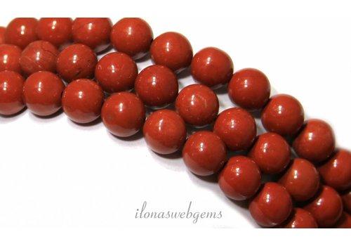 Rode Jaspis kralen rond ca. 6mm